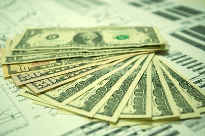 Financiële grafieken en de Dollar van de V.S. #6 stock afbeeldingen