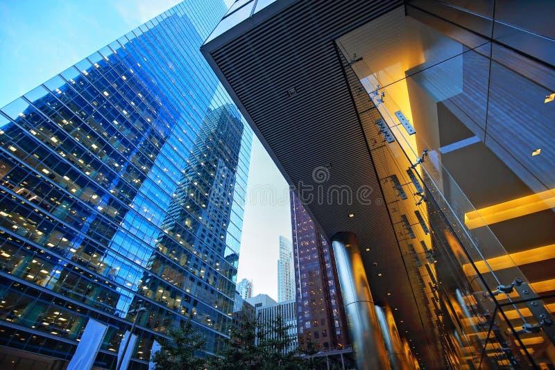 Financiële het districtshorizon van Toronto royalty-vrije stock afbeeldingen