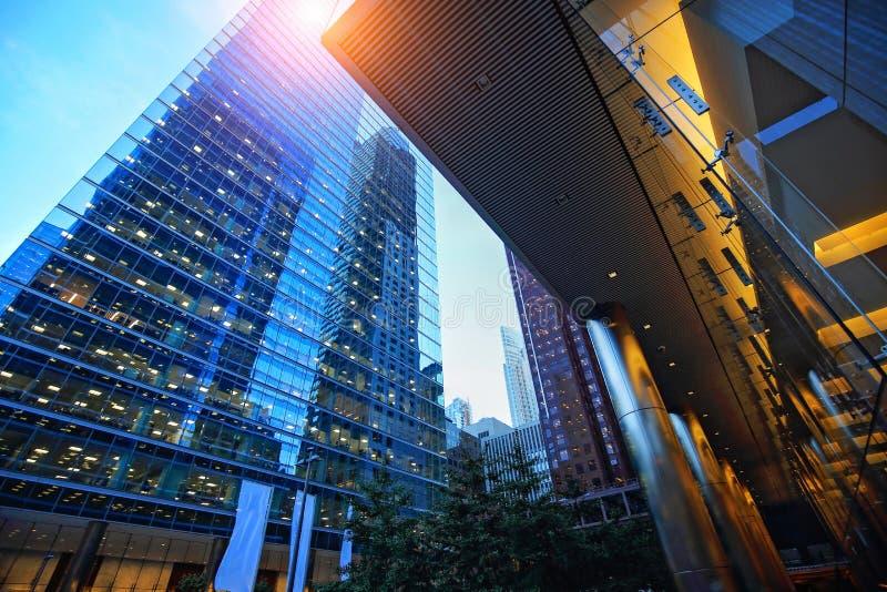 Financiële het districtshorizon van Toronto royalty-vrije stock foto