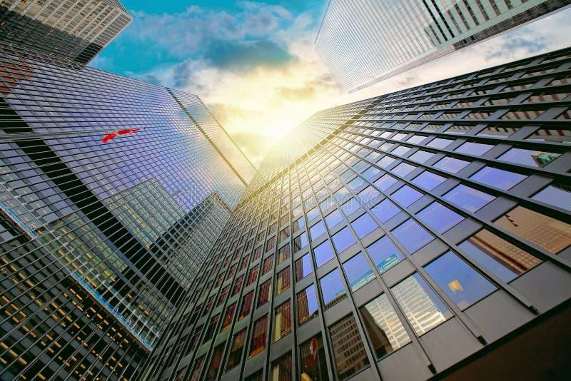 Financiële het districtshorizon van Toronto stock foto
