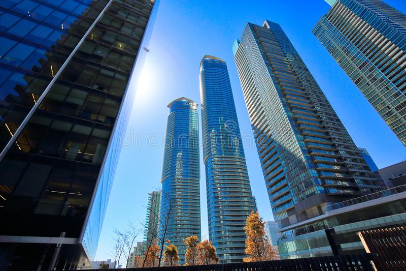 Financiële het districtshorizon van Toronto stock foto's