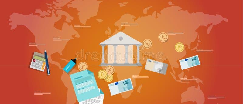 Financiële het geldregelgeving van het bestuurbankwezen staatsobligatie stock illustratie