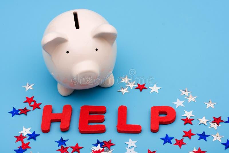 Financiële Hulp royalty-vrije stock afbeelding