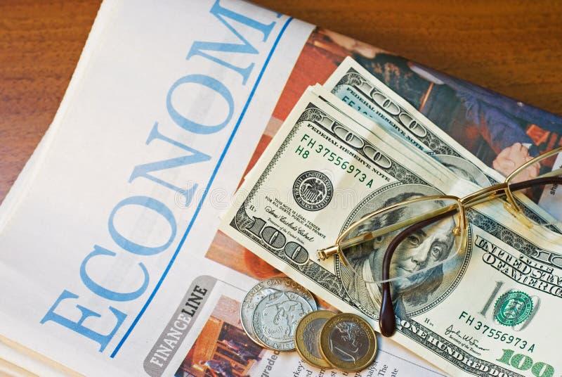 Financiële Krant royalty-vrije stock afbeelding