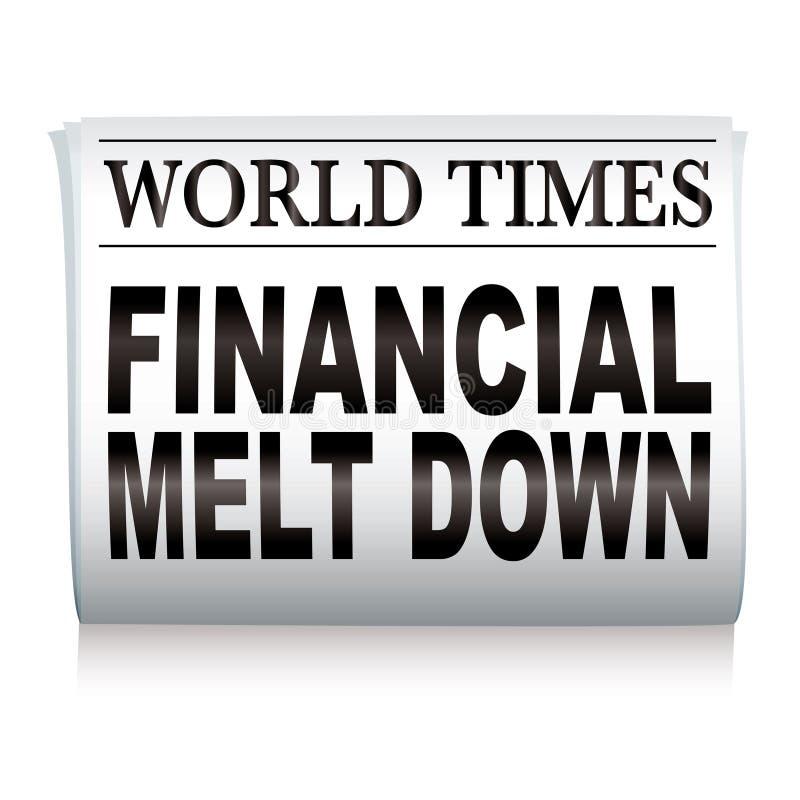 Financiële krant royalty-vrije illustratie