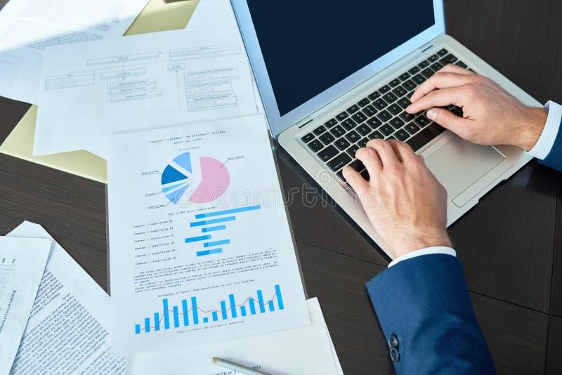 Financiële Manager op het Werk stock afbeeldingen