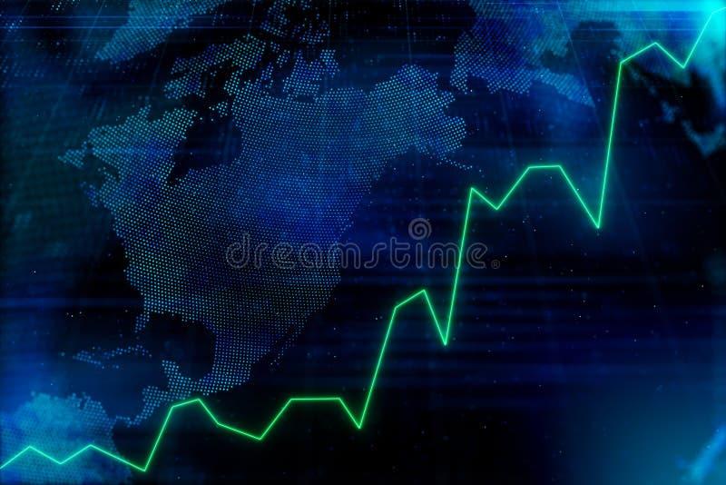 Financiële marktgrafiek royalty-vrije illustratie