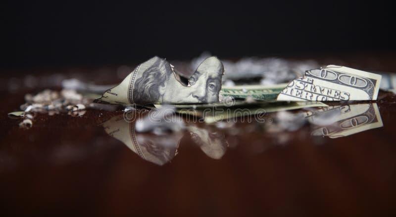 Financiële neerstorting royalty-vrije stock foto