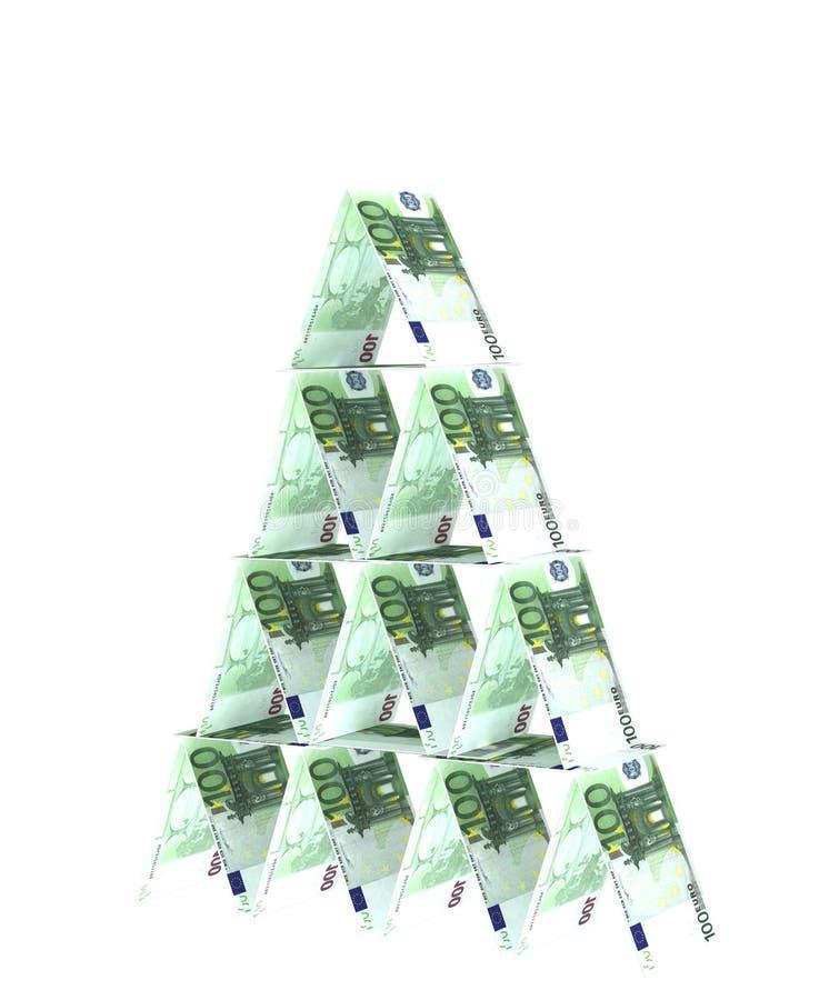 Financiële piramide vector illustratie