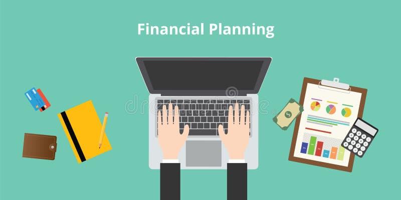 Financiële Planning stock illustratie