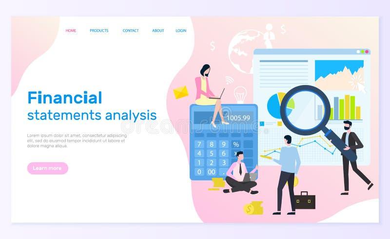Financiële staatanalyse, Statistische Grafiek vector illustratie