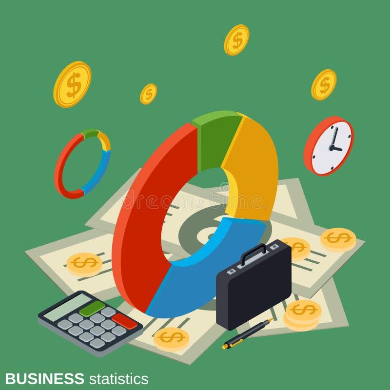 Financiële statistieken, bedrijfsrapport, markttendensenanalyse royalty-vrije illustratie