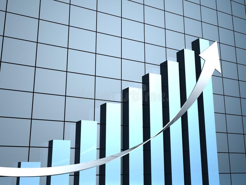 Financiële succes bedrijfsgrafiek met pijl vector illustratie