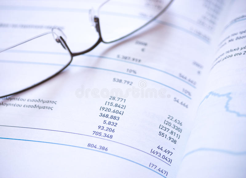 Financiële verklaring royalty-vrije stock fotografie