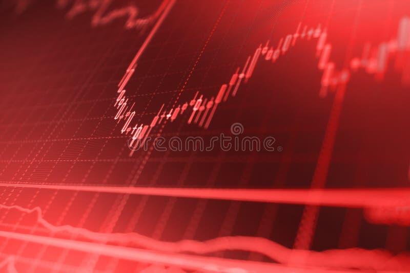 Financiën bedrijfsgegevensconcept Grote gegevens over LEIDEN paneel Munt handelthema stock foto's