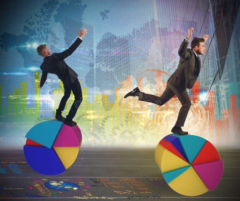 Financiën en economieacrobaten stock foto's