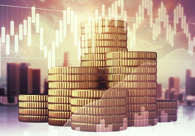 Financiën en economieconcept royalty-vrije stock afbeelding