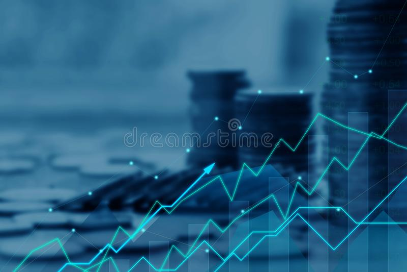 Financiën en Investeringsconcept stock foto's