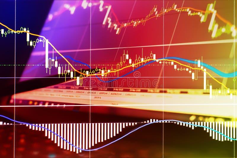 Financiën, geld en grafiek stock foto's