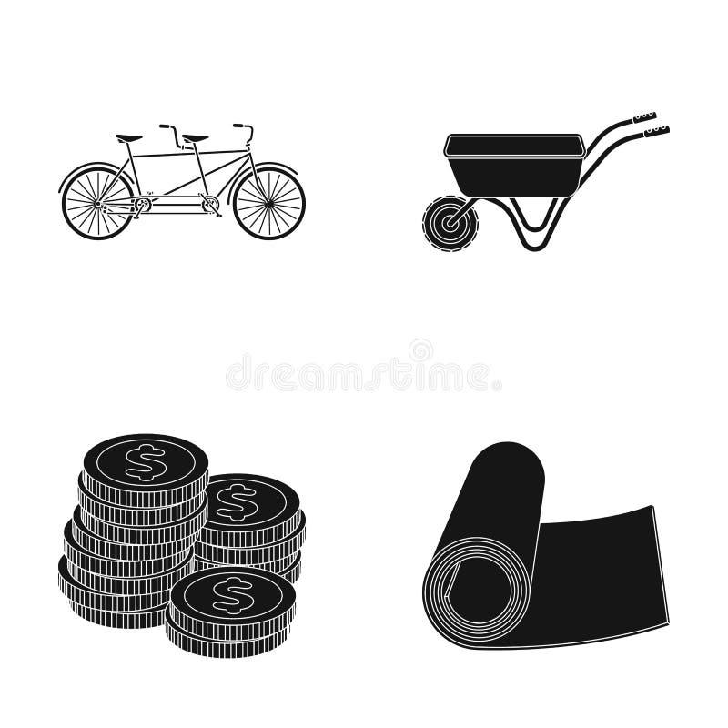 Financiën, landbouw en ander Webpictogram in zwarte stijl Fitness, sportenpictogrammen in vastgestelde inzameling vector illustratie