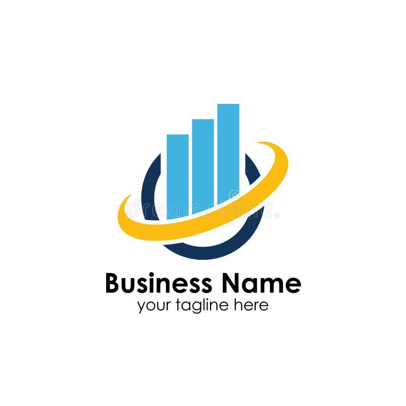 Financiën Logo Template Het malplaatje van het boekhoudingsembleem grafiekenpictogram vector illustratie
