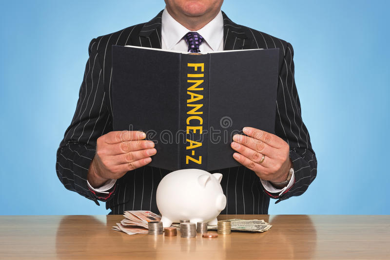 Financiën A-Z royalty-vrije stock afbeeldingen