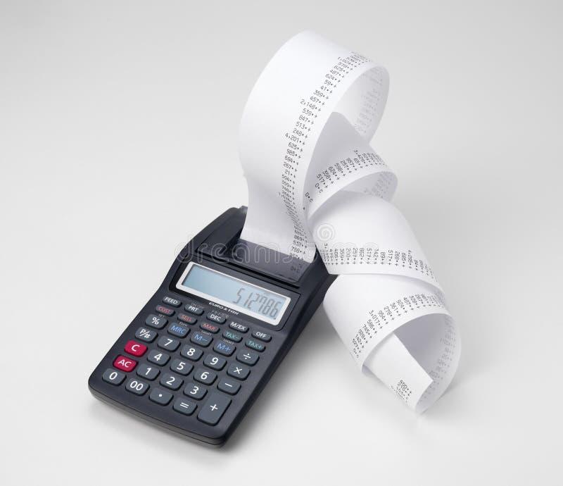 Financiënberekeningen stock afbeelding