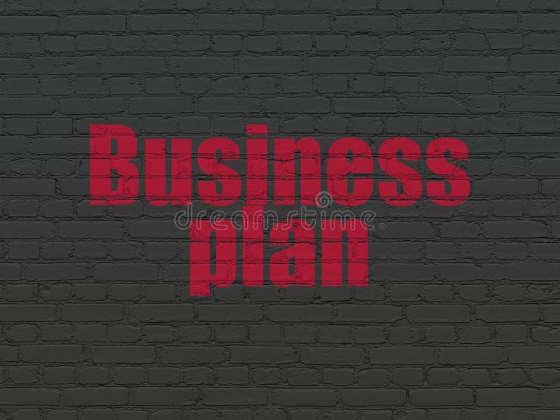 Financiënconcept: Businessplan op muurachtergrond stock afbeelding