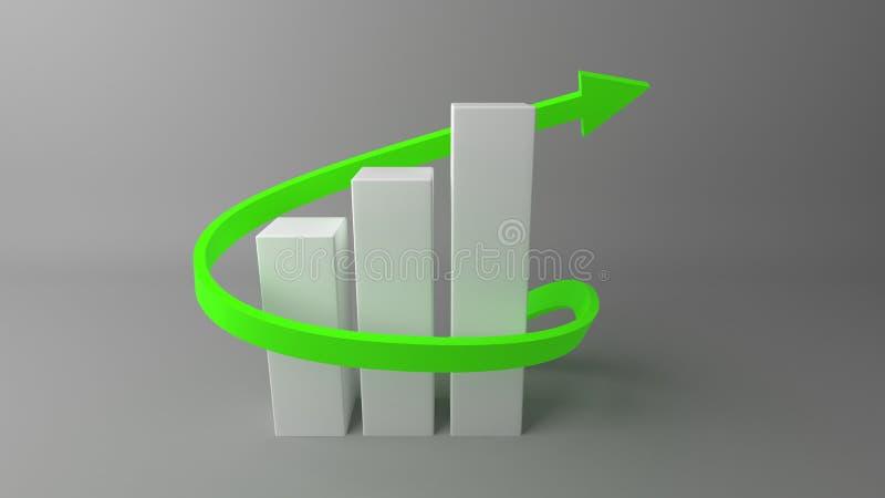 financiëngrafieken met het kweken van pijl stock illustratie