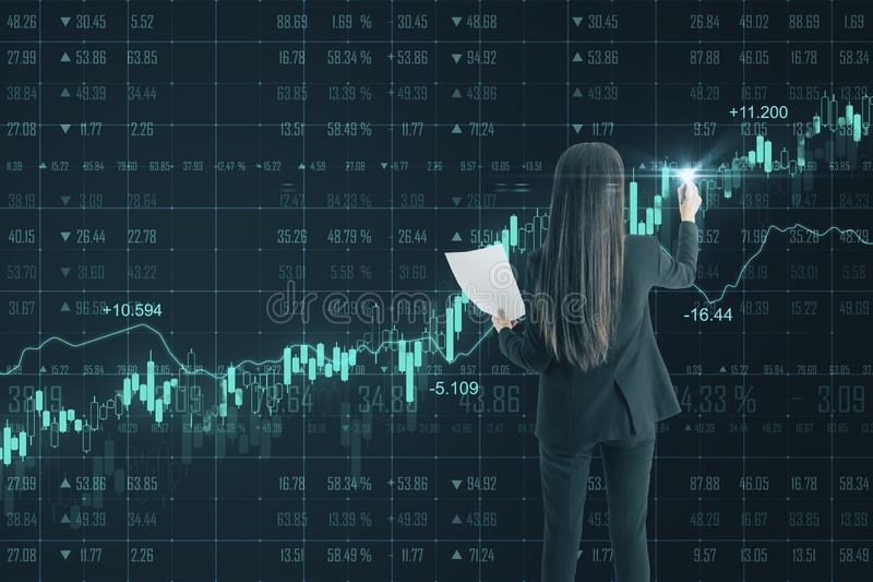 Financi?n en handelsconcept royalty-vrije stock foto's