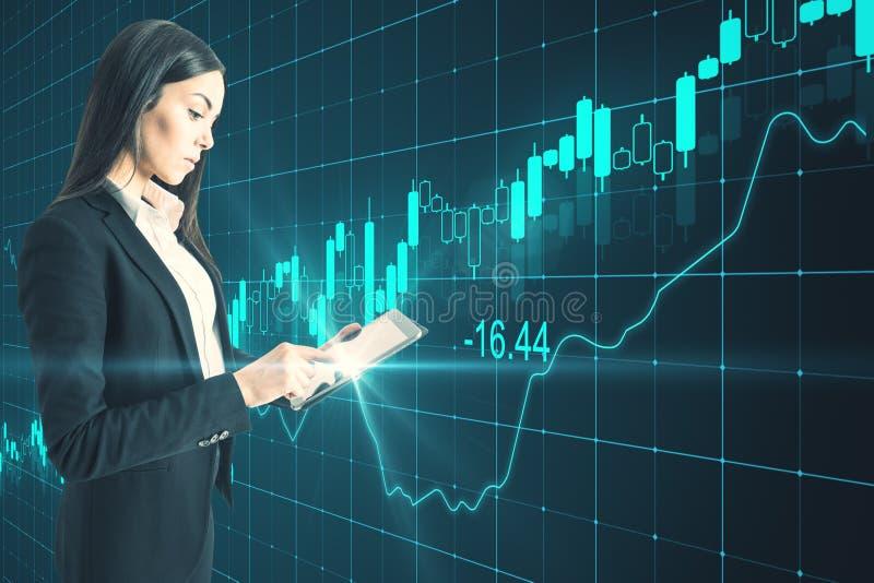 Financi?n en toekomstig concept stock afbeeldingen
