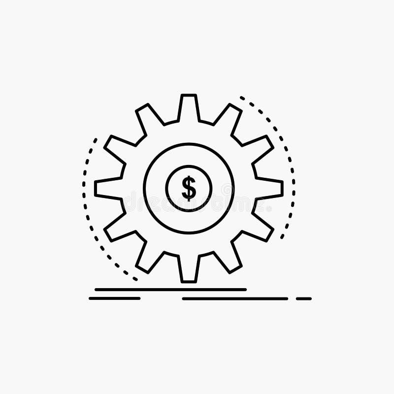 Financi?n, stroom, inkomen, het maken, het Pictogram van de geldlijn Vector ge?soleerde illustratie vector illustratie