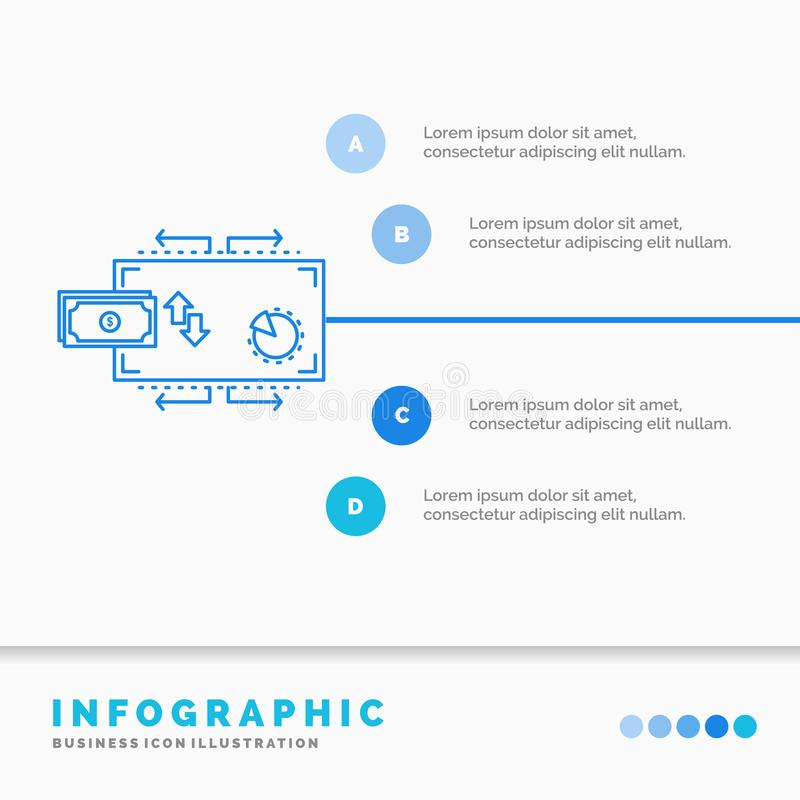 Financi?n, stroom, marketing, geld, het Malplaatje van betalingeninfographics voor Website en Presentatie Infographic stijl van h royalty-vrije illustratie