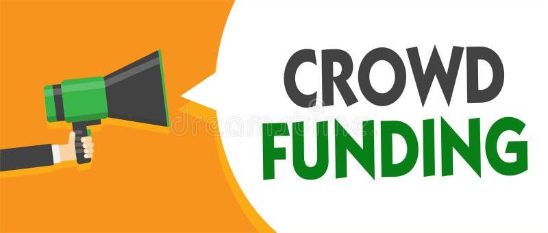 Financiación de la muchedumbre del texto de la escritura Las donaciones de lanzamiento Fundraising de la plataforma del compromis imagen de archivo libre de regalías