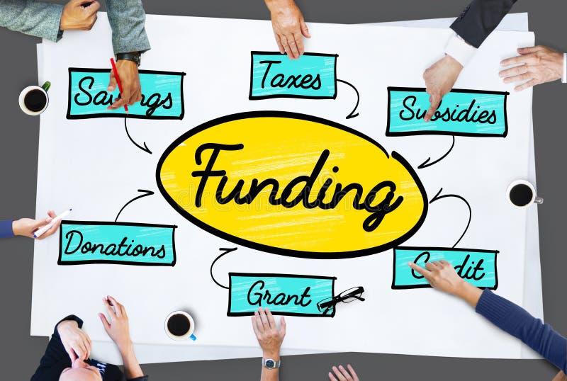 Financiación Grant Donation Diagram Concept foto de archivo