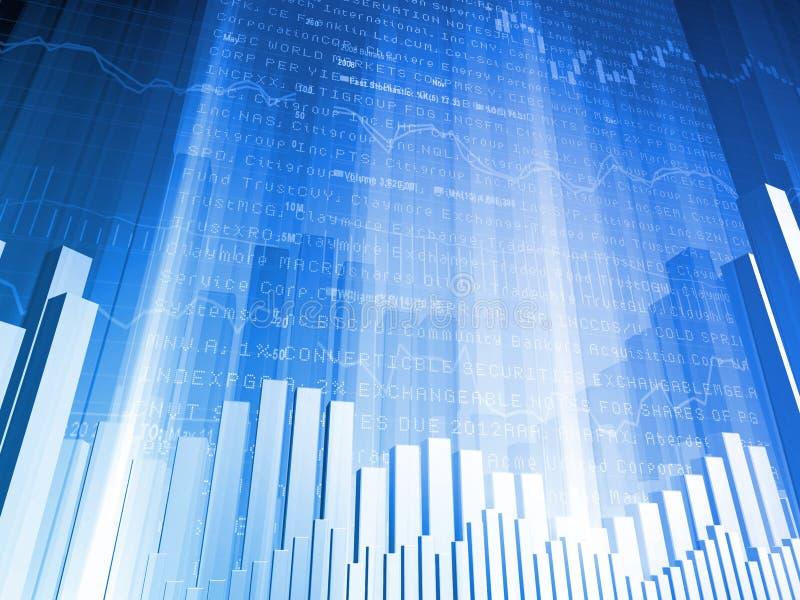 Financial Abstract Bar Chart royalty free stock photos