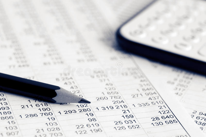 Financial accounting royalty free stock images