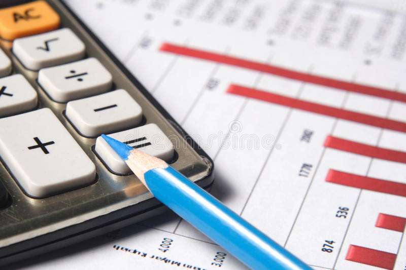 Financial or accounting concept royalty free stock photography