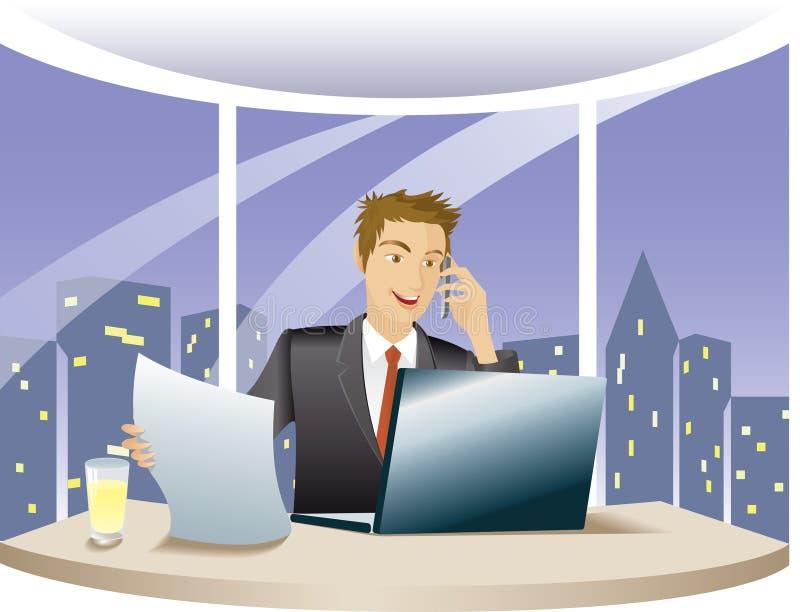 Financial Adviser Works Overtime Stock Photos