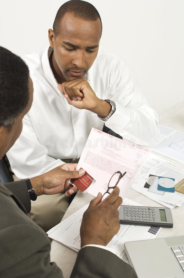 Download Financial Advisor In Discussion With Businessman Stock Photo - Image: 29661206
