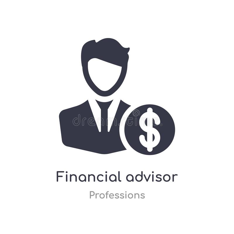 Financial advisor icon. isolated financial advisor icon vector illustration from professions collection. editable sing symbol can. Be use for web site and vector illustration