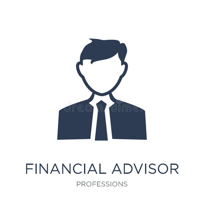 Financial Advisor icon. Trendy flat vector Financial Advisor icon on white background from Professions collection. Vector illustration can be use for web and royalty free illustration