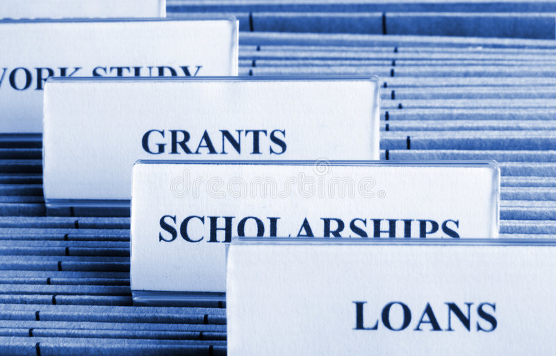 Financial Aid stock images