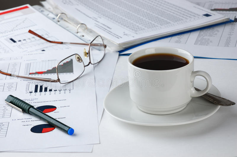 Financial analysis stock photos
