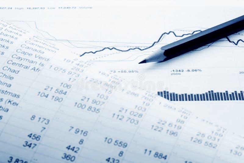 Financial accounting stock market graphs charts royalty free stock image