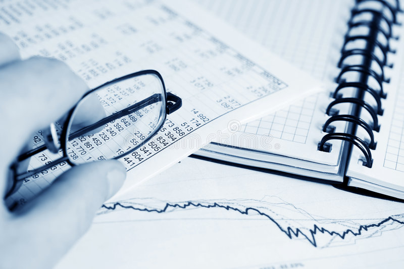 Financial analysis and accounting stock photos