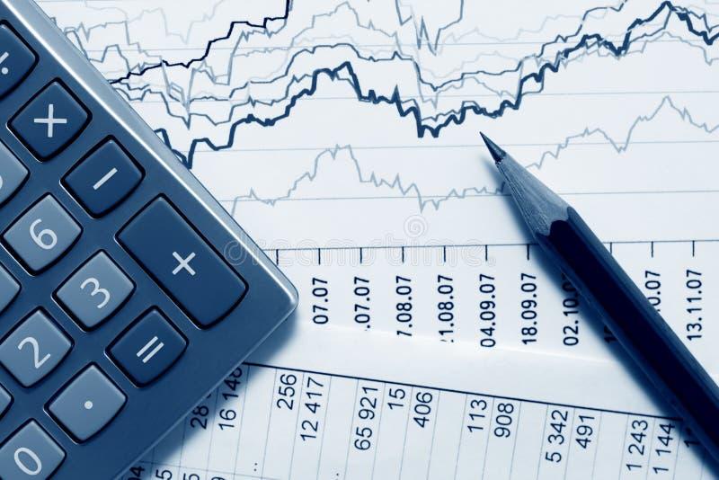Financial accounting stock market graphs charts royalty free stock photos