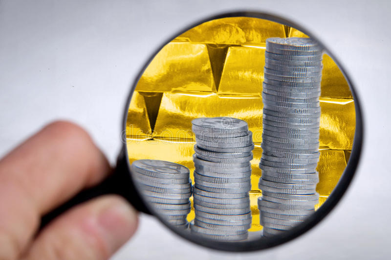 Finance investment gold stock image