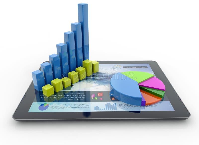 Financial analysis royalty free illustration