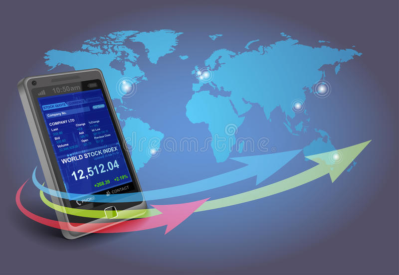 Download Financial Apps On Smartphone Stock Photography - Image: 19856952